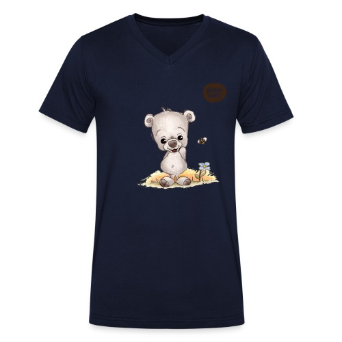 Noah der kleine Bär - Männer Bio-T-Shirt mit V-Ausschnitt von Stanley & Stella