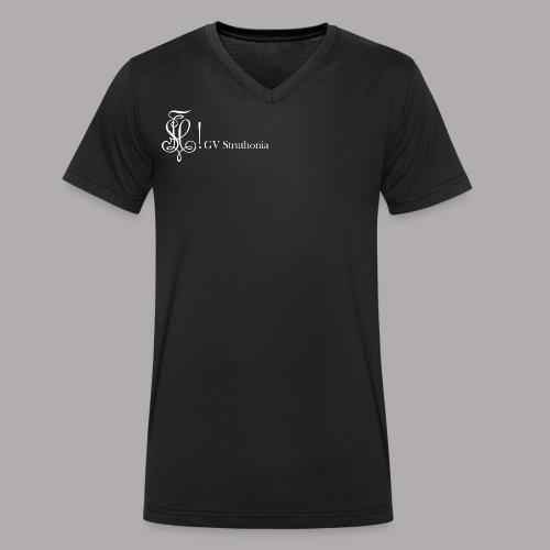 Zirkel mit Name, weiss (vorne) - Männer Bio-T-Shirt mit V-Ausschnitt von Stanley & Stella