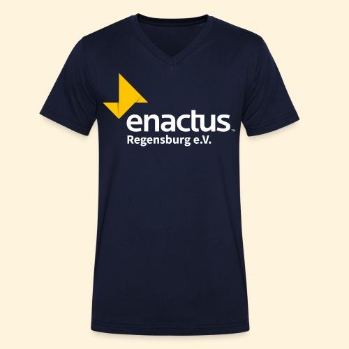 Enactus Regensburg e V weiße Schrift - Männer Bio-T-Shirt mit V-Ausschnitt von Stanley & Stella