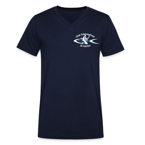CSC Logo v2 text neg png - T-shirt bio col V Stanley & Stella Homme