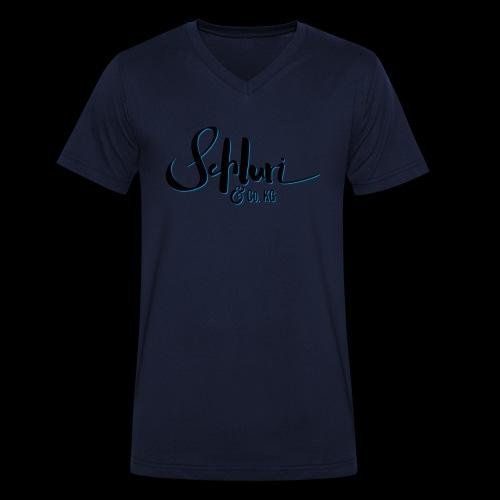 Schluri - Männer Bio-T-Shirt mit V-Ausschnitt von Stanley & Stella