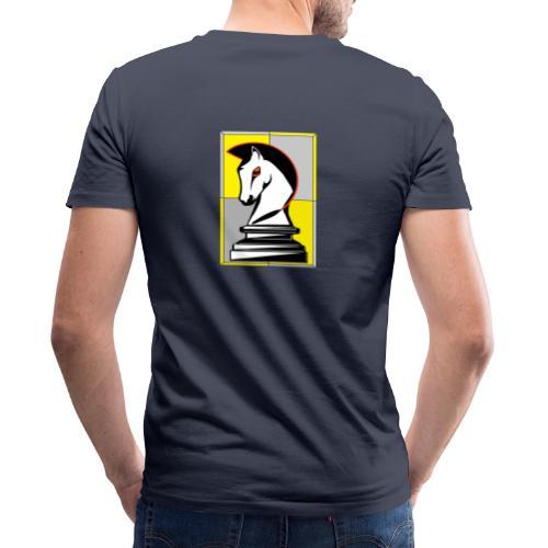 cavallo Scacchi Vers 2 - T-shirt ecologica da uomo con scollo a V di Stanley & Stella