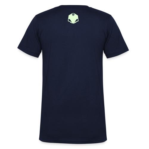 EXO Schwarz Logo - Männer Bio-T-Shirt mit V-Ausschnitt von Stanley & Stella