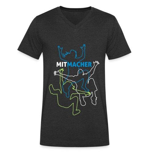 spontacts_Logo_Frauen auf - Männer Bio-T-Shirt mit V-Ausschnitt von Stanley & Stella