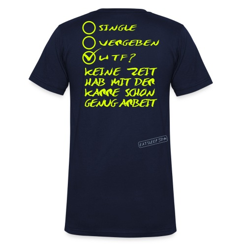 WTF? - Männer Bio-T-Shirt mit V-Ausschnitt von Stanley & Stella