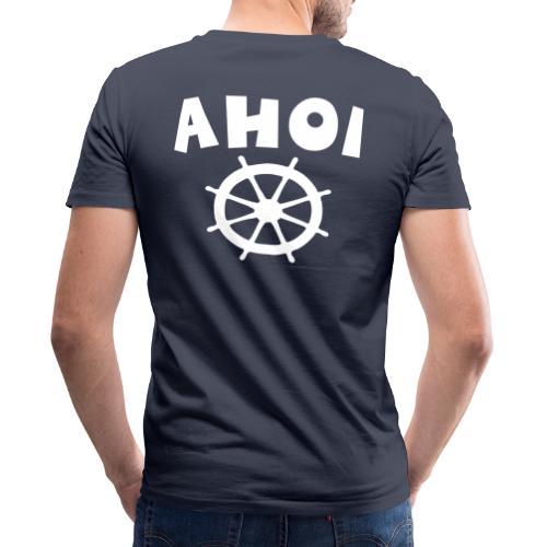 Ahoi Steuerrad Segel Segeln Segler - Männer Bio-T-Shirt mit V-Ausschnitt von Stanley & Stella