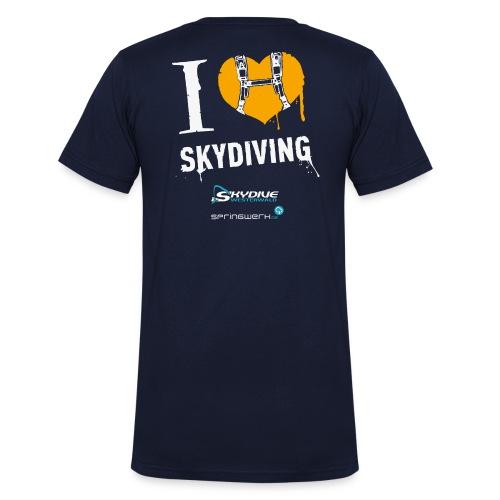 I heart Skydiving Pixel - Männer Bio-T-Shirt mit V-Ausschnitt von Stanley & Stella