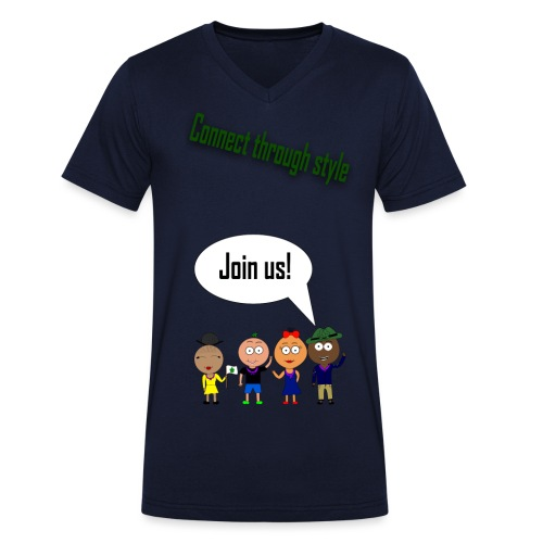 Front 2 png - Økologisk Stanley & Stella T-shirt med V-udskæring til herrer