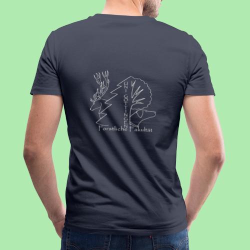 Weisses Fachschaftslogo Forst - Männer Bio-T-Shirt mit V-Ausschnitt von Stanley & Stella