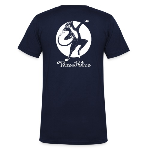 TanzeKatze - Männer Bio-T-Shirt mit V-Ausschnitt von Stanley & Stella