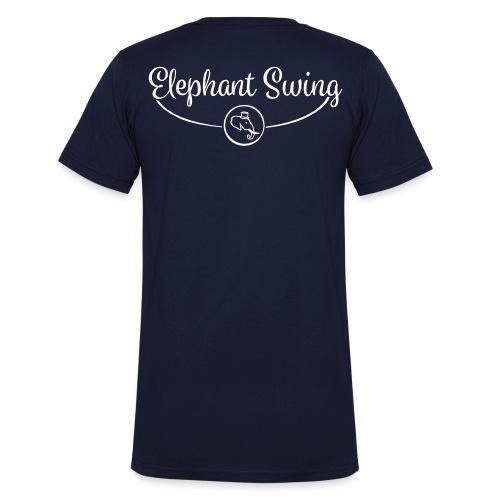 Elephant Swing Logo weiß - Männer Bio-T-Shirt mit V-Ausschnitt von Stanley & Stella