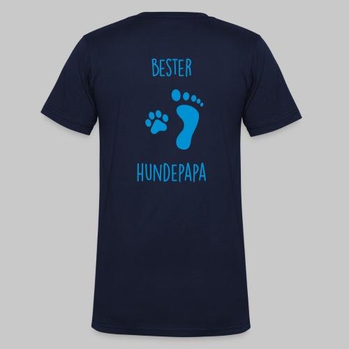 Bester Hundepapa - Männer Bio-T-Shirt mit V-Ausschnitt von Stanley & Stella
