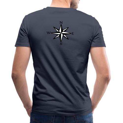 Windrose mit Himmelsrichtungen Segeln Segler - Männer Bio-T-Shirt mit V-Ausschnitt von Stanley & Stella