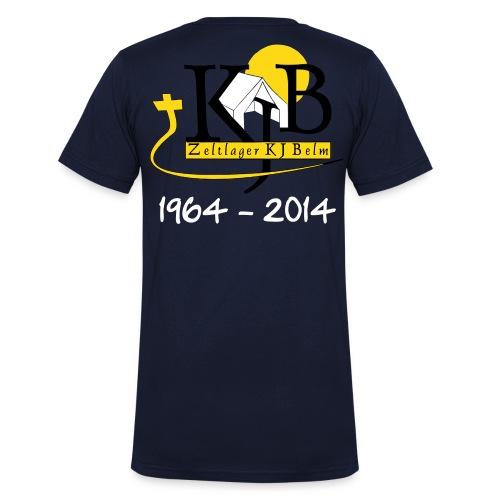 KJB Logo Jubiläum - Männer Bio-T-Shirt mit V-Ausschnitt von Stanley & Stella
