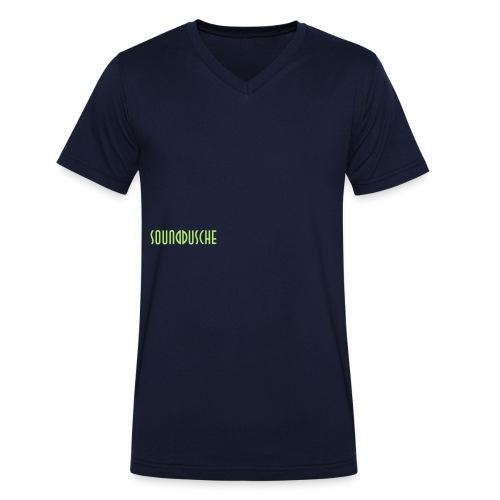 sounddusche schriftzug shirt - Männer Bio-T-Shirt mit V-Ausschnitt von Stanley & Stella