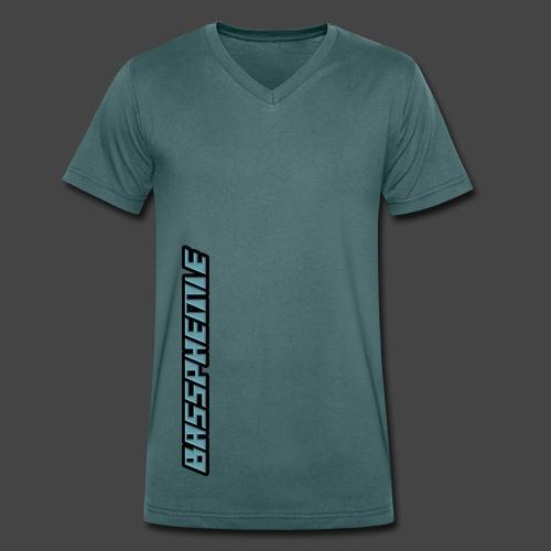 Bassphemie - Blau (Original Design) - Männer Bio-T-Shirt mit V-Ausschnitt von Stanley & Stella