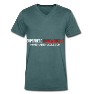 SUPERHERO HOMEWORKOUT - Premium t-shirt for Men - Men's Organic V-Neck T-Shirt by Stanley & Stella