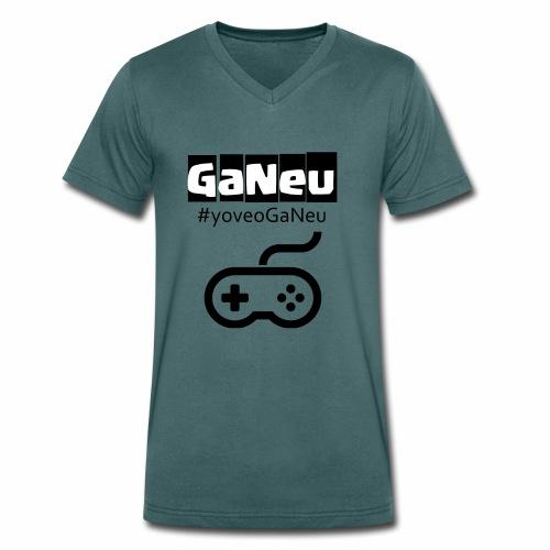 GaNeu - Camiseta ecológica hombre con cuello de pico de Stanley & Stella