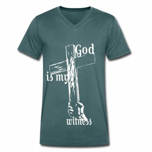 God is my witness weiss - Männer Bio-T-Shirt mit V-Ausschnitt von Stanley & Stella