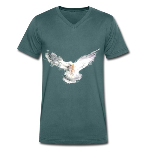 Taube - Männer Bio-T-Shirt mit V-Ausschnitt von Stanley & Stella