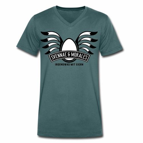 Svennae und Morales - Irgendwas mit Eiern - Männer Bio-T-Shirt mit V-Ausschnitt von Stanley & Stella