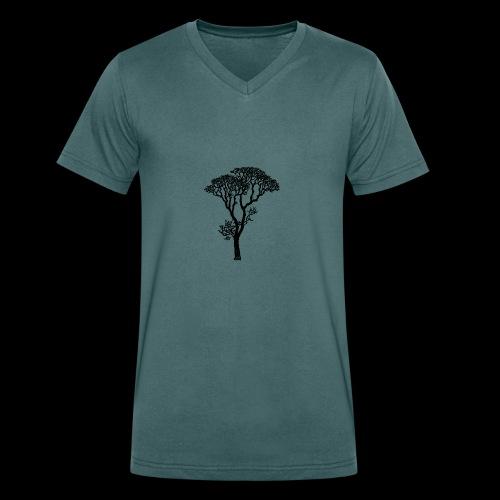 Arboleda - Camiseta ecológica hombre con cuello de pico de Stanley & Stella