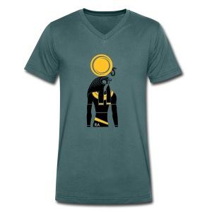 RA – Sonnengott - Männer Bio-T-Shirt mit V-Ausschnitt von Stanley & Stella