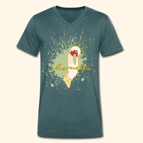 hermekins Gyan Mudra - Männer Bio-T-Shirt mit V-Ausschnitt von Stanley & Stella