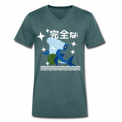 Kawaii Veganer Hai Shirt Veganer T-Shirt Geschenk - Männer Bio-T-Shirt mit V-Ausschnitt von Stanley & Stella