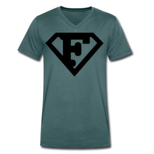 Firman Simply Black - Männer Bio-T-Shirt mit V-Ausschnitt von Stanley & Stella