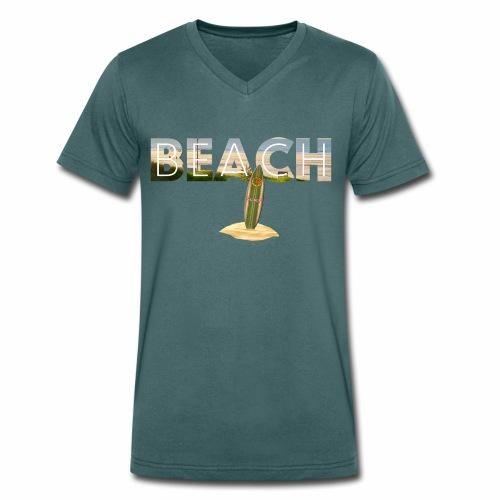 BEACH 1 - Männer Bio-T-Shirt mit V-Ausschnitt von Stanley & Stella