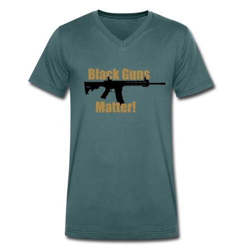 BLACK GUNS MATTER - Männer Bio-T-Shirt mit V-Ausschnitt von Stanley & Stella