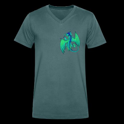 Comic Sandzahn - Männer Bio-T-Shirt mit V-Ausschnitt von Stanley & Stella