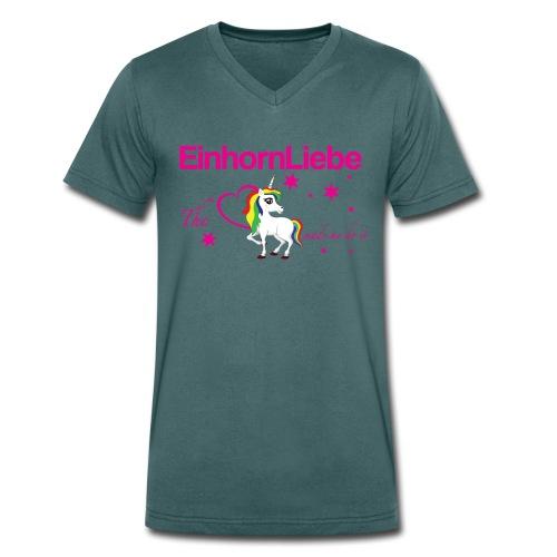 The-Unicorn_made_me_do_it_EInhornLiebe - Männer Bio-T-Shirt mit V-Ausschnitt von Stanley & Stella