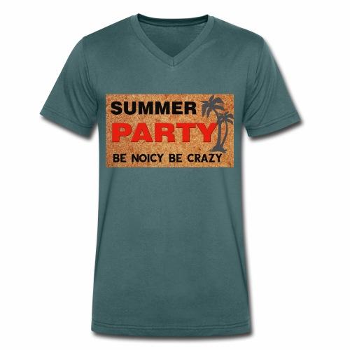 summer party mens - Men's Organic V-Neck T-Shirt by Stanley & Stella