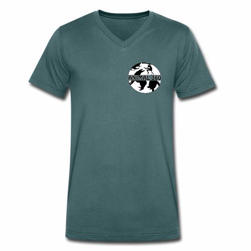 Logo Animal 360 version simple - T-shirt bio col V Stanley & Stella Homme