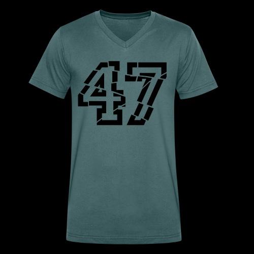 47 broken - Männer Bio-T-Shirt mit V-Ausschnitt von Stanley & Stella