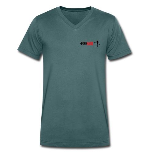 Tennis #Forehand - T-shirt ecologica da uomo con scollo a V di Stanley & Stella