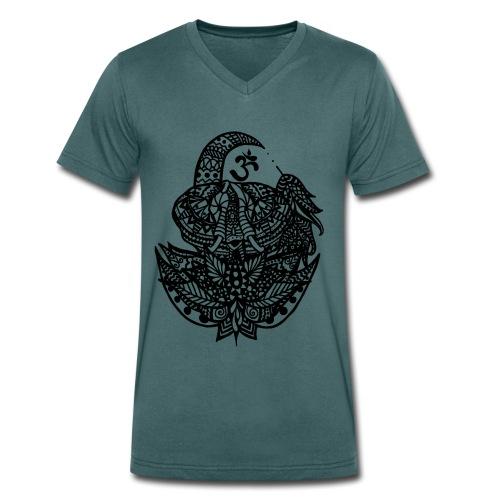 Elefant Om - Männer Bio-T-Shirt mit V-Ausschnitt von Stanley & Stella