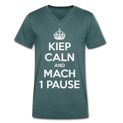 KIEP CALN AND MACH 1 PAUSE - Männer Bio-T-Shirt mit V-Ausschnitt von Stanley & Stella