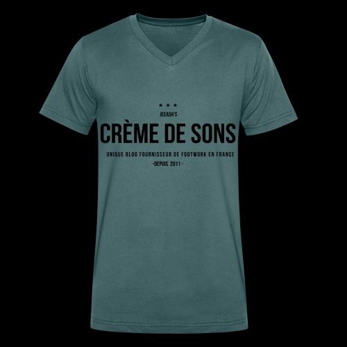 Creme de Sons Logo V0 24fra Fournisseur Footwork - T-shirt bio col V Stanley & Stella Homme
