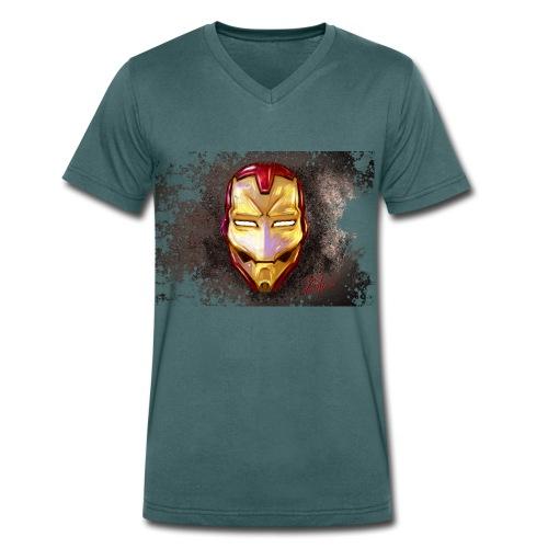 IronSketch - T-shirt ecologica da uomo con scollo a V di Stanley & Stella