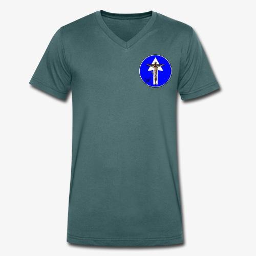 Gesù - T-shirt ecologica da uomo con scollo a V di Stanley & Stella