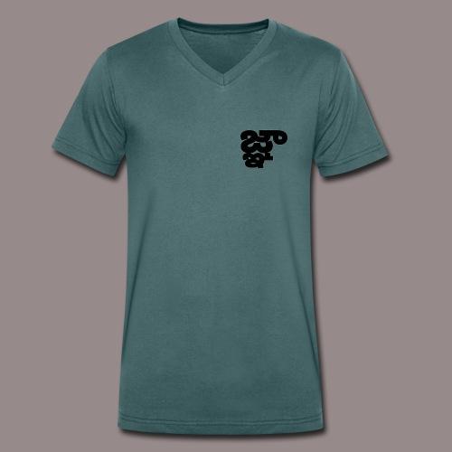 Binarux - Camiseta ecológica hombre con cuello de pico de Stanley & Stella