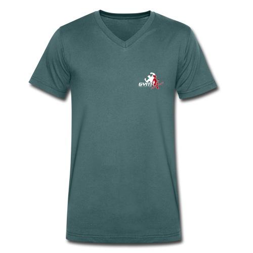 GYM-X.logo (für dunkle Kleidung) - Männer Bio-T-Shirt mit V-Ausschnitt von Stanley & Stella
