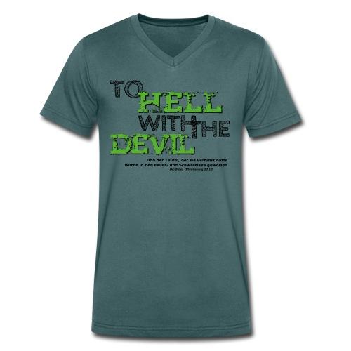 to hell with the devil grün - Männer Bio-T-Shirt mit V-Ausschnitt von Stanley & Stella