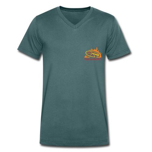 Pizza Logo - Männer Bio-T-Shirt mit V-Ausschnitt von Stanley & Stella