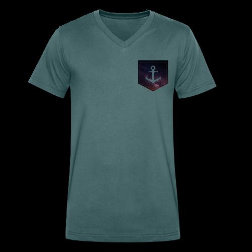 Brusttasche Galaxie Anker - Männer Bio-T-Shirt mit V-Ausschnitt von Stanley & Stella