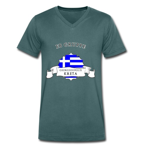 Georgioupolis/Kreta Motiv 2 - Männer Bio-T-Shirt mit V-Ausschnitt von Stanley & Stella