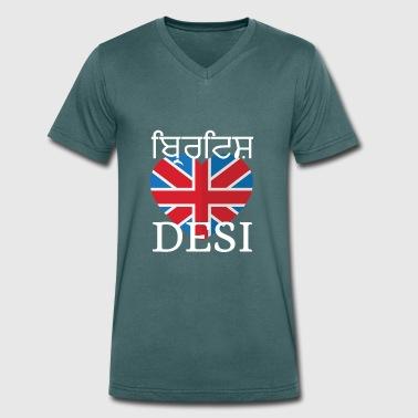 DESI BRITANNICO - T-shirt ecologica da uomo con scollo a V di Stanley & Stella